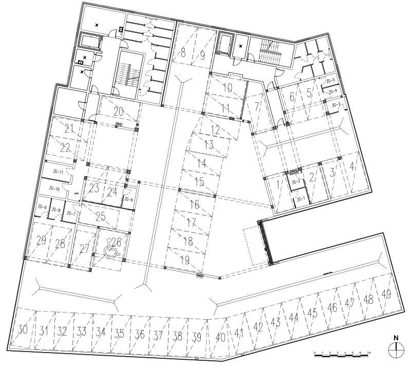 Osiedle mieszkaniowe we Wrześni ul Daszyńskiego - budynek A1, A2 miejsca postojowe