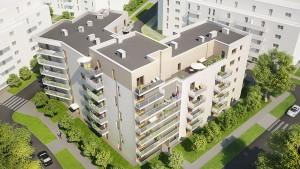 Wizualizacja osiedla we Wrześni, Daszyńskiego, mieszkania we Wrześni