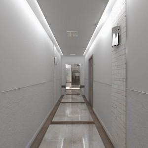 Wizualicje częsci wspólnych Nowe Centrum Września - korytarz