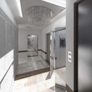 Wizualicje częsci wspólnych Nowe Centrum Września - klatka schodowa, winda