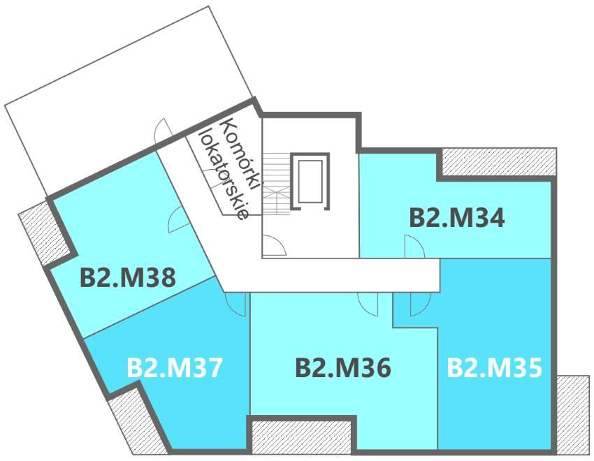 Nowe Centrum Września rozmieszczenie mieszkań w budynku B2 na 6 piętrze