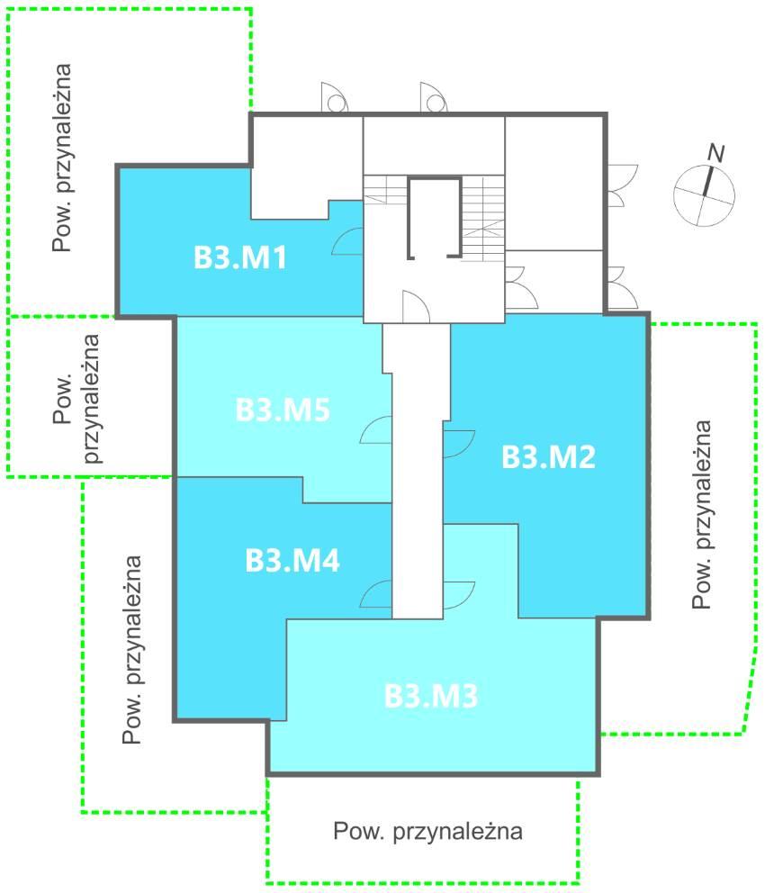 Nowe Centrum Września rozmieszczenie mieszkań w budynku B3 na parterze, ul. Daszyńskiego, osiedle Tonsil